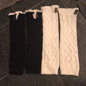 Accessories - Bundle of 2 knit leg warmers w buttons